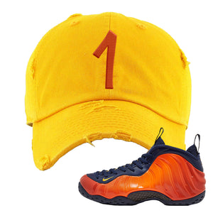Foamposite One OKC Distressed Dad Hat | Gold, Penny One