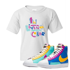 Blazer Mid Big Kids T Shirt | White, In Living Color