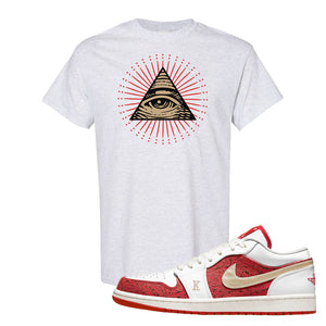 Air Jordan 1 Low Spades T Shirt | All Seeing Eye, Ash