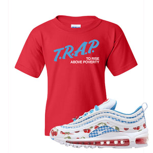 Air Max 97 GS SE Cherry Kids T-Shirt | Trap to Rise Above Poverty, Red