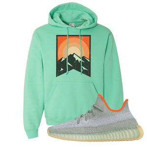 Yeezy 350 V2 Desert Sage Hoodie | Cool Mint, Yellow Stone Park