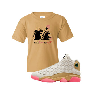 Jordan 13 Chinese New Year 2020 Army Rats Old Gold Kid's T-Shirt to match Jordan 13 Chinese New Year Sneaker