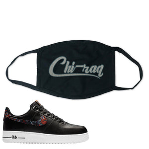Air Force 1 Low Black Floral Face Mask | Chiraq, Black
