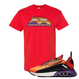 Air Max 2090 Magma Orange T Shirt | Red, Visit Mars