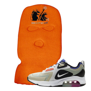 Air Max 200 WMNS Fossil Sneaker Safety Orange Ski Mask | Winter Mask to match Nike Air Max 200 WMNS Fossil Shoes | Army Rats
