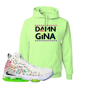 Lebron 17 Air Command Force Hoodie | Neon Green, Damn Gina