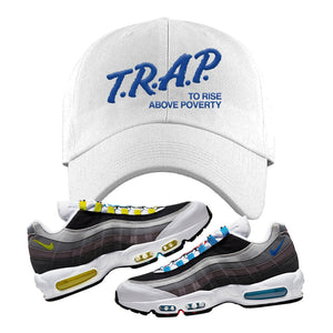Air Max 95 QS Greedy Dad Hat | White, Trap to Rise Above Poverty