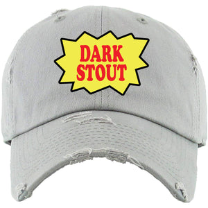 Backwoods Dark Stout Light Gray Distressed Dad Hat