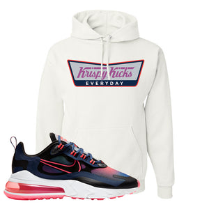 Air Max 270 React WMNS Storm Pink Pullover Hoodie | Krispy Kicks, White