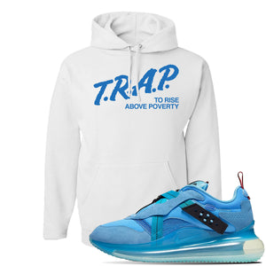 Air Max 720 OBJ Slip Light Blue Hoodie | White, Trap To Rise Above Poverty