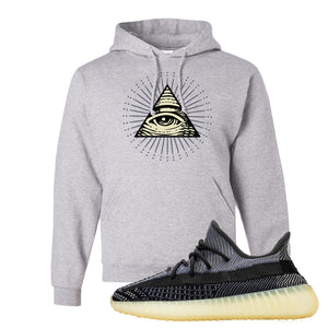 Yeezy Boost 350 V2 Asriel Carbon Pullover Hoodie | All Seeing Eye, Ash