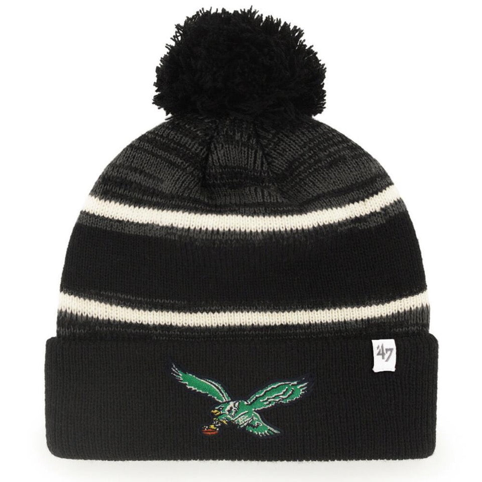991bf4ac16d On the front of the vintage Philadelphia eagles beanie is the retro eagles  bird logo embroidered
