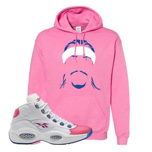 Question Mid Pink Toe Hoodie | Headband Corn Rows, Azalea
