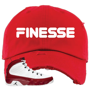 Air Jordan 9 Gym Red Distressed Dad Hat | Finesse, Red