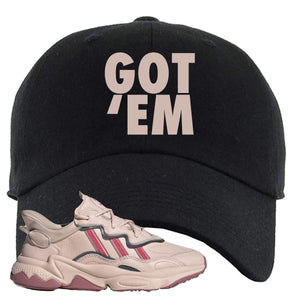 Women Ozweego Icy Pink Dad Hat | Got Em, Black