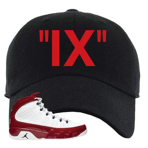 Air Jordan 9 Gym Red Dad Hat | IX, Black