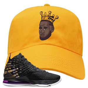 Lebron 17 Lakers Basketball King Gold Sneaker Hook Up Dad Hat