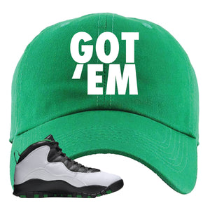 Jordan 10 Seattle Supersonics Dad Hat | Got Em, Kelly