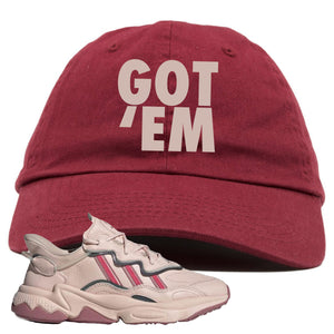 Women Ozweego Icy Pink Dad Hat | Got Em, Maroon