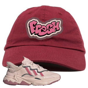 Women Ozweego Icy Pink Dad Hat | Fresh, Maroon