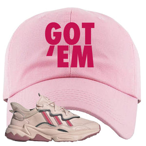 Adidas WMNS Ozweego Icy Pink Got Em Pink Sneaker Hook Up Dad Hat
