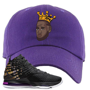 Lebron 17 Lakers Basketball King Purple Sneaker Hook Up Dad Hat