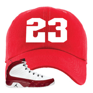 Air Jordan 9 Gym Red Dad Hat | Jordan 9 23, Red