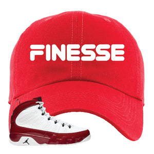 Air Jordan 9 Gym Red Dad Hat | Finesse, Red