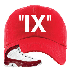 Air Jordan 9 Gym Red Dad Hat | IX, Red