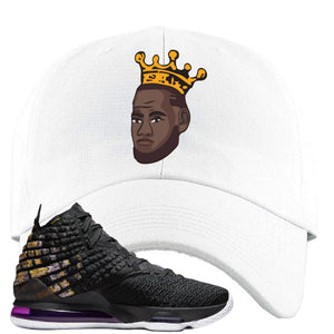 Lebron 17 Lakers Basketball King White Sneaker Hook Up Dad Hat