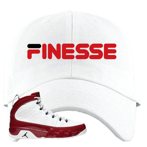 Air Jordan 9 Gym Red Dad Hat | Finesse, White