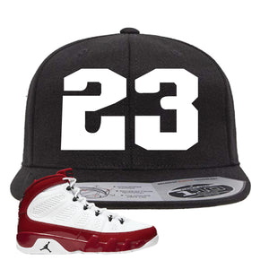 Air Jordan 9 Gym Red Snapback Hat | Jordan 9 23, Black