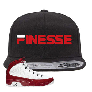 Air Jordan 9 Gym Red Snapback Hat | Finesse, Black