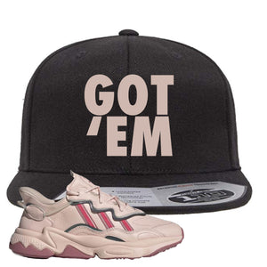 Women Ozweego Icy Pink Snapback Hat | Got Em, Black