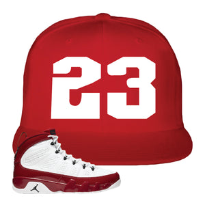 Air Jordan 9 Gym Red Snapback Hat | Jordan 9 23, Red
