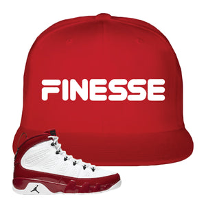 Air Jordan 9 Gym Red Snapback Hat | Finesse, Red