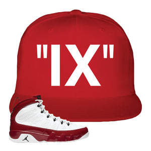 Air Jordan 9 Gym Red Snapback Hat | IX, Red