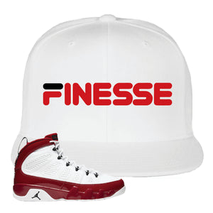 Air Jordan 9 Gym Red Snapback Hat | Finesse, White