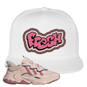 Women Ozweego Icy Pink Snapback Hat | Fresh, White
