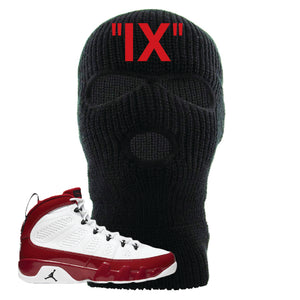 Air Jordan 9 Gym Red Ski Mask | IX, Black