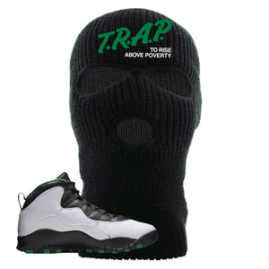 Jordan 10 Seattle Supersonics Ski Mask | Trap To Rise Above Poverty, Black