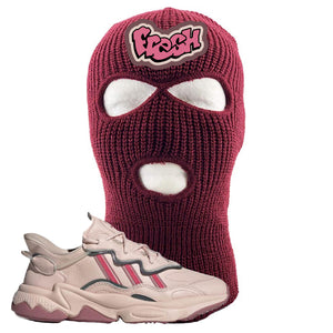 Women Ozweego Icy Pink Ski Mask | Fresh, Maroon