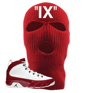 Air Jordan 9 Gym Red Ski Mask | IX, Red