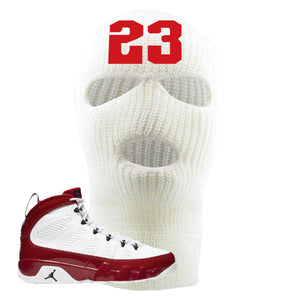 Air Jordan 9 Gym Red Ski Mask | Jordan 9 23, White