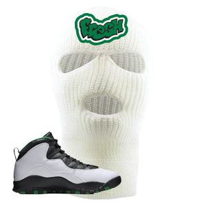 Jordan 10 Seattle Supersonics Ski Mask | Fresh, White