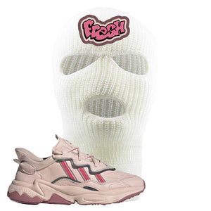 Women Ozweego Icy Pink Ski Mask | Fresh, White