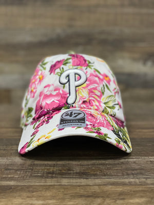 Philadelphia Phillies White Floral Roseman Clean Up Adjustable Dad Hat