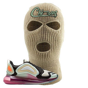 Air Max 720 WMNS Black Fossil Sneaker Khaki Ski Mask | Winter Mask to match Nike Air Max 720 WMNS Black Fossil Shoes | Chiraq