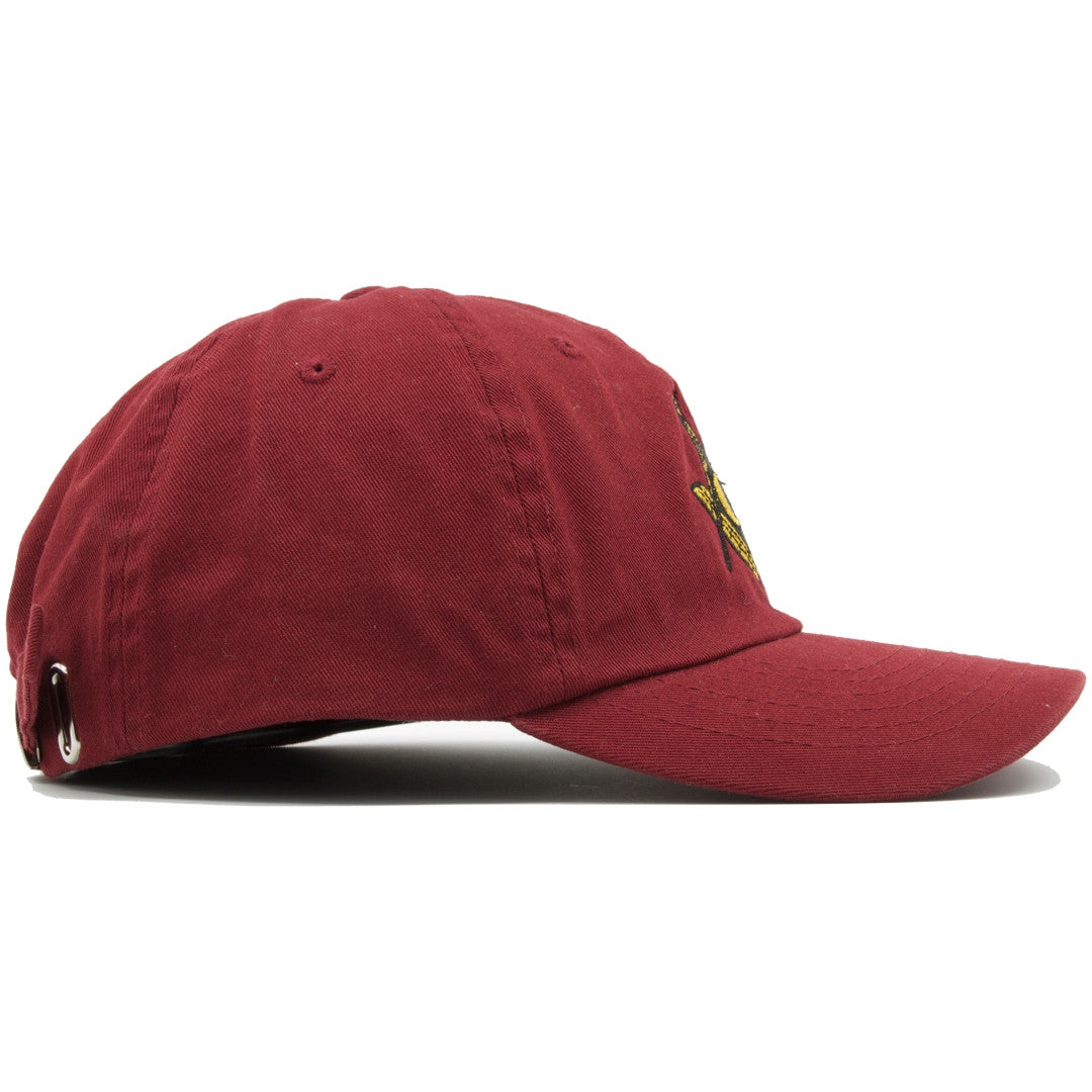 ... The Free Masons Illuminati Dad Hat is solid maroon and made of 100%  cotton. c70c761b1ee