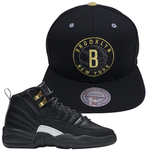 Nets Hat To Match Master 12s | Jordan 12 Masters Sneaker Brooklyn Nets Snapback Hat